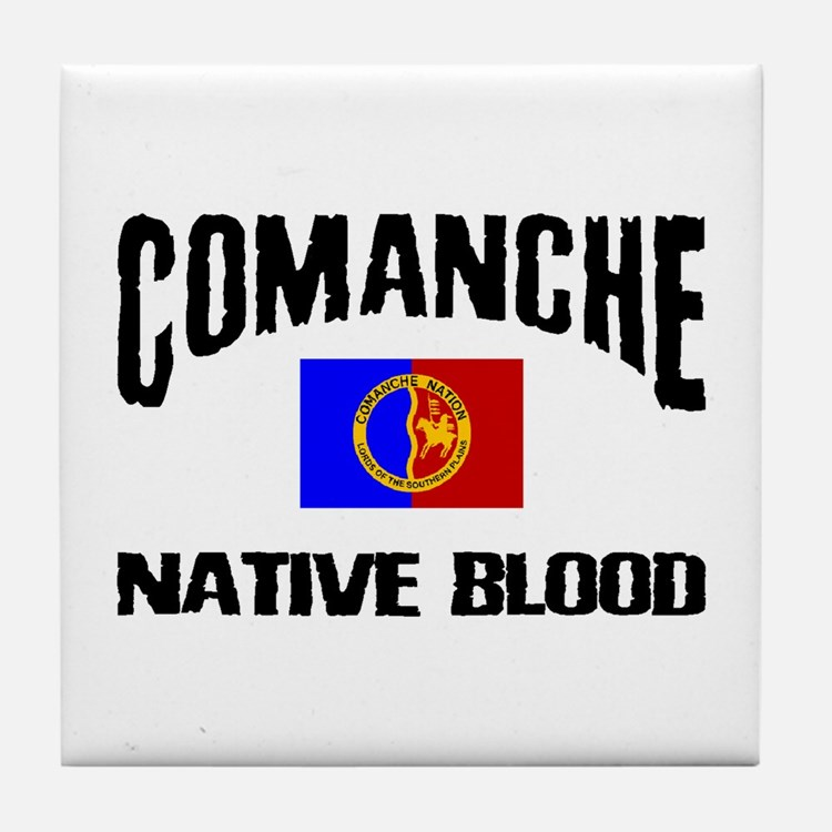 Comanche Native Blood Tile Coaster