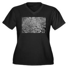 Wild Onion Women's Plus Size V-Neck Dark T-Shirt