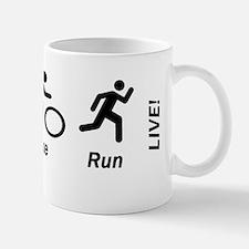 Swim Bike Run Live Coffee Mugs
