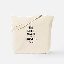 Keep Calm Blk Tote Bag