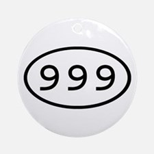 999 Oval Ornament (Round)
