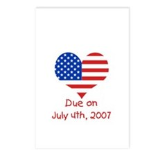 Due on the 4th of July Postcards (Package of 8)