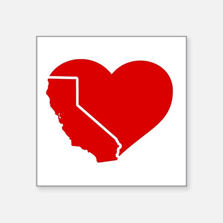 I Love California Heart Sticker