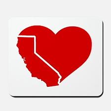 I Love California Heart Mousepad