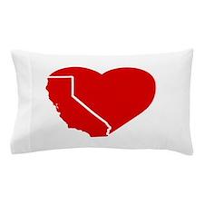 I Love California Heart Pillow Case