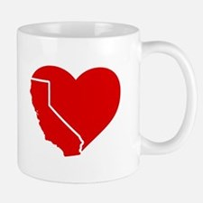 I Love California Heart Mugs