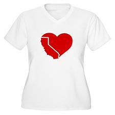 I Love California Heart Plus Size T-Shirt
