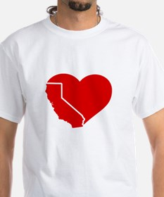 I Love California Heart T-Shirt