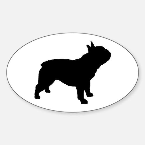 French Bulldog Sticker (Oval)