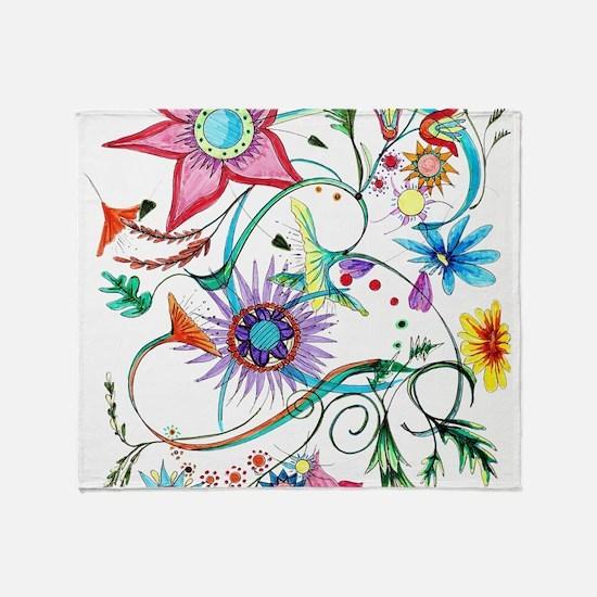 Cute Flowered Throw Blanket