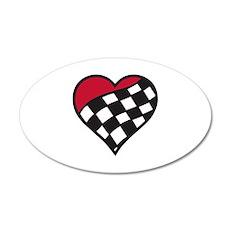 Racing Heart Wall Decal