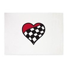 Racing Heart 5'x7'Area Rug