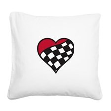 Racing Heart Square Canvas Pillow