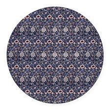 William Morris Evenlode Pattern Round Car Magnet