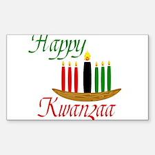 Fancy Happy Kwanzaa with hand drawn kinara Decal