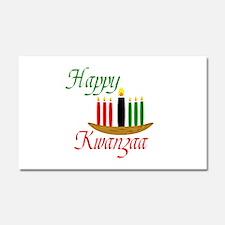 Fancy Happy Kwanzaa with hand drawn kinara Car Mag
