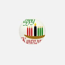 Fancy Happy Kwanzaa with hand drawn kinara Mini Bu