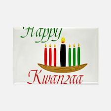 Fancy Happy Kwanzaa with hand drawn kinara Magnets