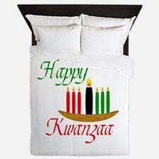 Fancy Happy Kwanzaa with hand drawn kinara Queen D