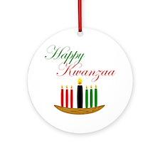 Elegant Happy Kwanzaa with hand drawn kinara Ornam