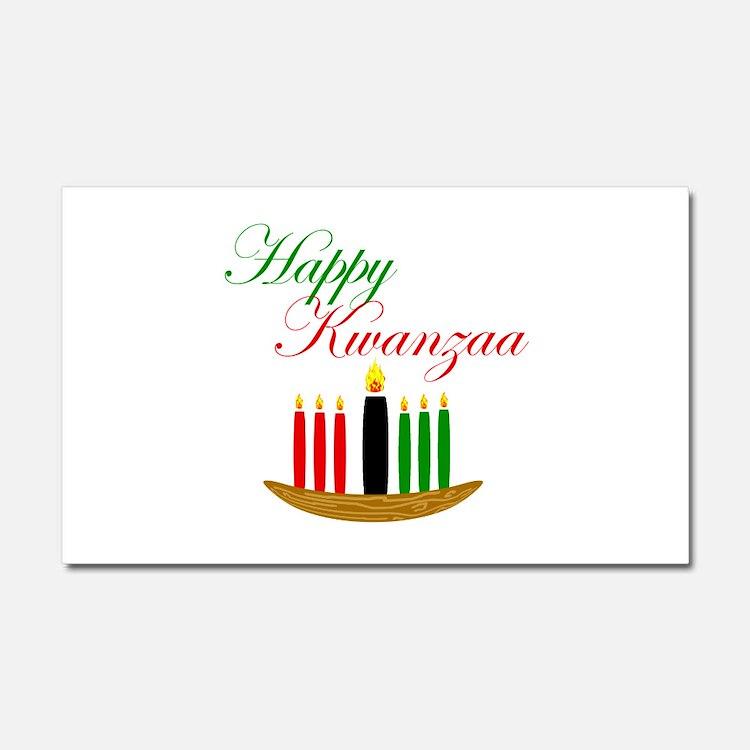 Elegant Happy Kwanzaa with hand drawn kinara Car M