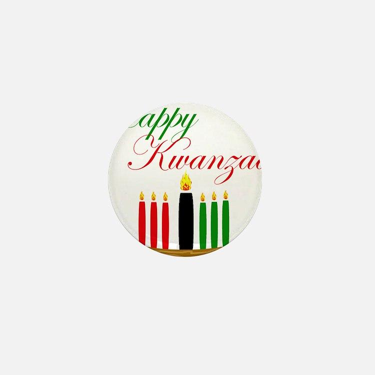 Elegant Happy Kwanzaa with hand drawn kinara Mini