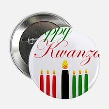 """Elegant Happy Kwanzaa with hand drawn kinara 2.25"""""""
