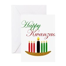 Elegant Happy Kwanzaa with hand drawn kinara Greet