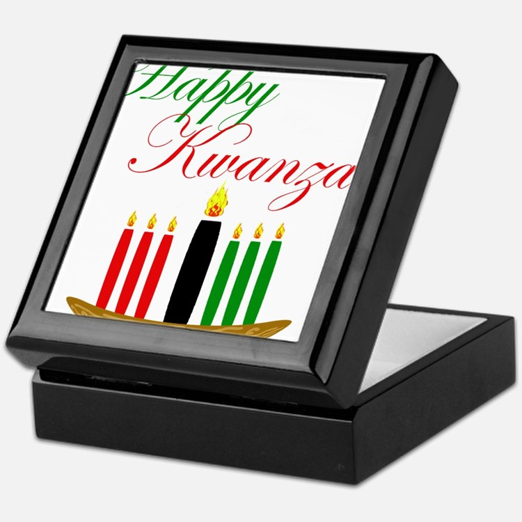 Elegant Happy Kwanzaa with hand drawn kinara Keeps
