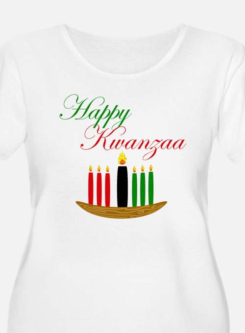 Elegant Happy Kwanzaa with hand drawn kinara Plus