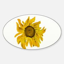 Sunflower (Painted Watercolour Moti Sticker (Oval)