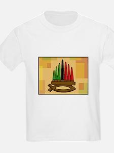 Fish Kinara with candles T-Shirt