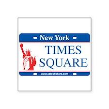 "Cute Times square new york Square Sticker 3"" x 3"""