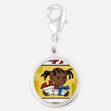 Girl Happy Kwanzaa with gifts.png Charms