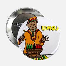 "Umoja Man lighting the Kinara.png 2.25"" Button"