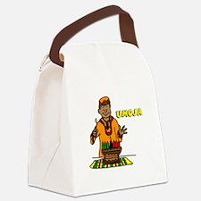 Umoja Man lighting the Kinara.png Canvas Lunch Bag