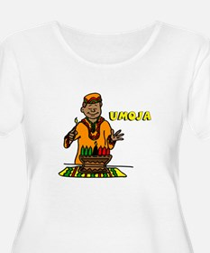 Umoja Man lighting the Kinara.png Plus Size T-Shir