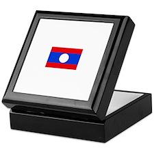 laos flag Keepsake Box