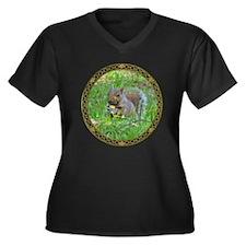Grey Tree Squirrel Plus Size T-Shirt