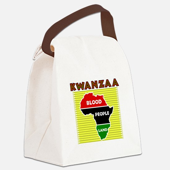 Kinara with lit candles.png Canvas Lunch Bag
