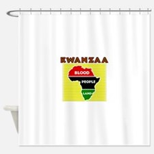 Kinara with lit candles.png Shower Curtain