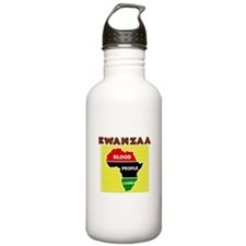 Kinara with lit candles.png Water Bottle