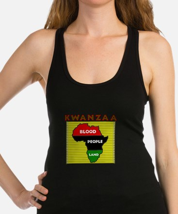 Kinara with lit candles.png Racerback Tank Top