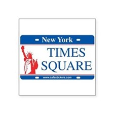 "Cute Times square new york Square Sticker 3"" x 3"""