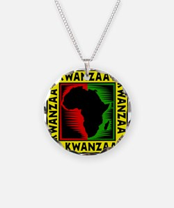 Celebrate Kwanzaa african print.png Necklace