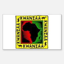 Celebrate Kwanzaa african print.png Decal
