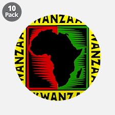 "Celebrate Kwanzaa african print.png 3.5"" Button (1"