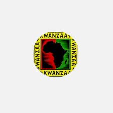 Celebrate Kwanzaa african print.png Mini Button (1