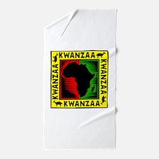 Celebrate Kwanzaa african print.png Beach Towel