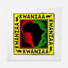 Celebrate Kwanzaa african print.png Queen Duvet